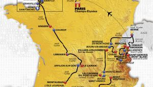 Map Of tour De France tour De France 2016 Die Strecke