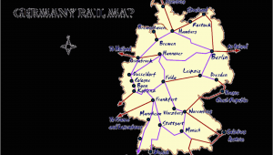 Map Of Train Routes In Italy Germany Rail Map and Transportation Guide