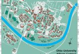 Map Of Universities In Ohio Ohio University S athens Campus Map