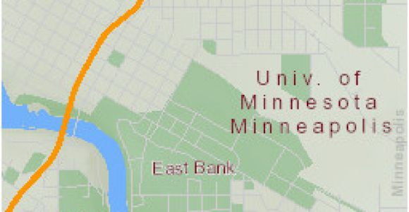 Map Of University Of Minnesota East Bank Campus Maps