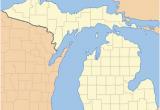 Map Of Upper Peninsula Michigan Cities List Of Counties In Michigan Wikipedia
