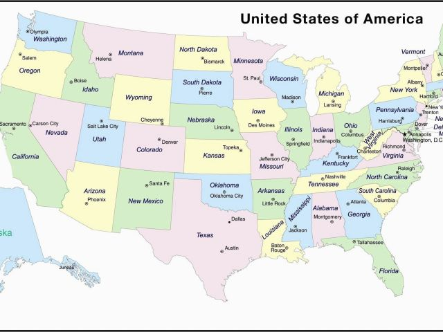 Map Of Usa Showing Colorado United States Map Showing Major ...