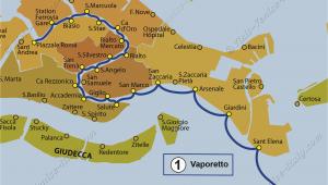 Map Of Venice Italy Cruise Port Transport Vaporetto Waterbus Bus Lines Maps Venice Italy