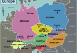 Map Of West Central Europe Central Europe Wikitravel