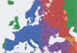 Map Of West Central Europe Europe Map Time Zones Utc Utc Wet Western European Time