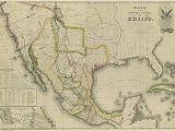 Map Of West Texas and New Mexico Mapa De Los Estados Unidos De Mejico 1828 Historic Maps States