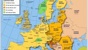 Map Of Western Europe with Capitals Map Of Europe Member States Of the Eu Nations Online Project