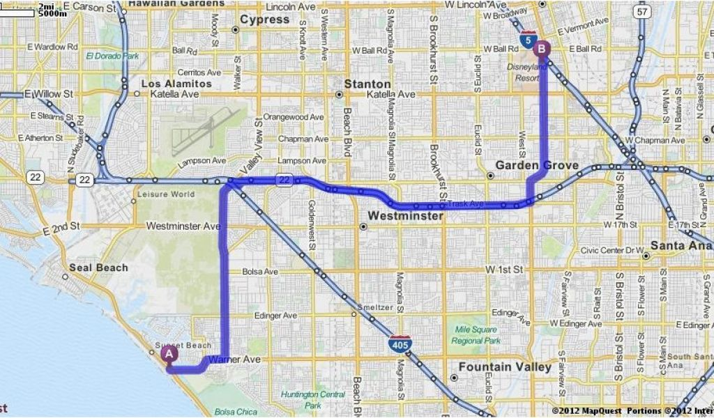 Map Quest California Driving Directions From Bolsa Chica Sb ...