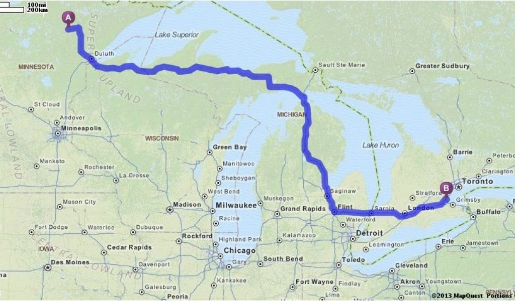 Map Quest Ohio Driving Directions From Chisholm Minnesota to ... on