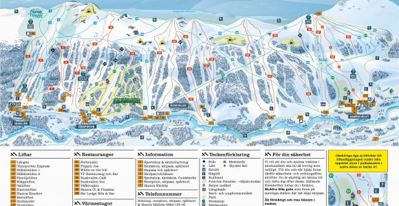 Map Ski Resorts France Trail Map Tanndalen
