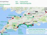 Map south England Coast Jurassic Coast and Cornwall England