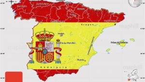 Map south Of Spain Flag Map Of Spain