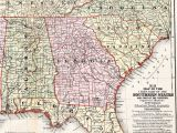 Map Tennessee and north Carolina Antique 1858 southern States Map Georgia Alabama Tennessee north
