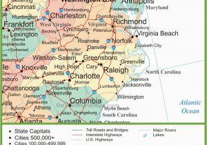 Map Of Georgia Tennessee North Carolina.Map Tennessee And North Carolina Map Of North Carolina Cities North