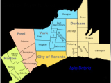 Map toronto Canada Surrounding area Greater toronto area Wikipedia