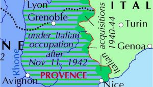 Map Vichy France File Italian Occupied France Jpg Wikimedia Commons