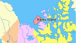 Map Yellowknife Canada File Map Indicating Banks island northwest Territories