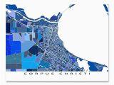 Maps Corpus Christi Texas Amazon Com Corpus Christi Map Print Texas Usa City Street Art