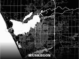 Maps Login Michigan Black Map Poster Template Of Muskegon Michigan Usa Maps Vector