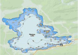 Maps Of Michigan Lakes Medora Lake Fishing Map Us Mi 42 86 Nautical Charts App