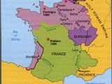 Maps Of south Of France 100 Years War Map History Britain Plantagenet 1154