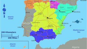 Maps Spain Regions Dividing Spain Into 5 Regions A Spanish Life Spain