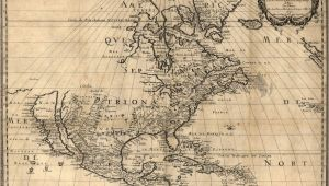 Maritime Map Canada 1650 Map United States Canada Mexico Antique north America 20