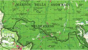 Maroon Bells Colorado Map Trail Maps aspen Trail Finder