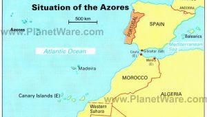 Mediterranean Spain Map Azores islands Map Portugal Spain Morocco Western Sahara Madeira