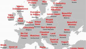 Memorize Map Of Europe the Japanese Stereotype Map Of Europe How It All Stacks Up