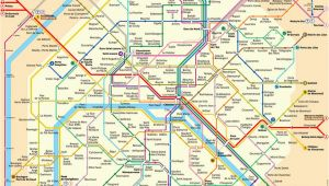 Metro Map Of Paris France In English Plan Der Pariser Metro Paris Metroplan Metronetz Map