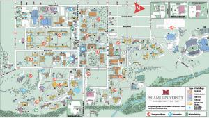 Miami Of Ohio Campus Map Oxford Campus Maps Miami University