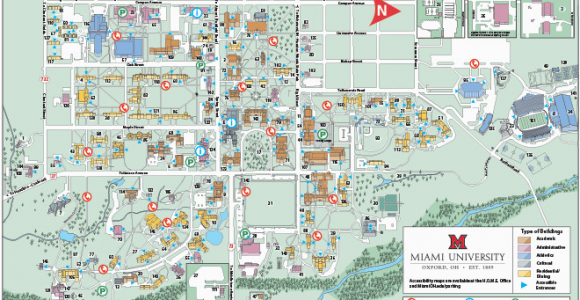 Miami Of Ohio Campus Map Oxford Campus Maps Miami University