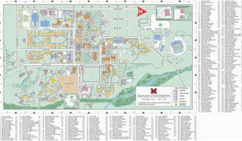 Miami Ohio Campus Map Oxford Campus Map Miami University Click To