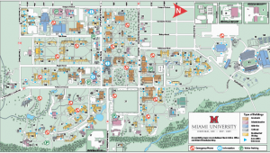 Miami University Ohio Map Oxford Campus Maps Miami University