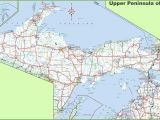 Michigan Central Railroad Map Map Of Upper Peninsula Of Michigan