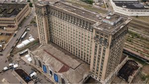 Michigan Central Station Map Inside Detroit S Crumbling Train Station that ford Plans to