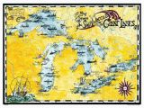 Michigan Color tour Map Great Lakes Shipwreck Map by Avery Color Studios Michigan Great