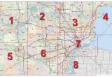 Michigan Color tour Map Mdot Detroit Maps