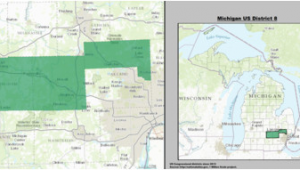 Michigan Congressional Map Michigan S 8th Congressional District Wikipedia