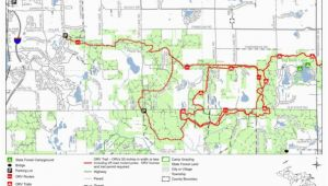 Michigan forests Map north Branch Route Mi Dnr Avenza Maps