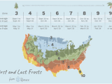 Michigan Frost Line Map First and Last Frost Dates by Usda Zone