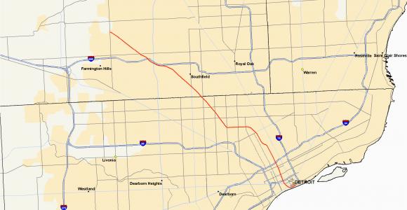 Michigan Highways Map M 10 Michigan Highway Wikipedia