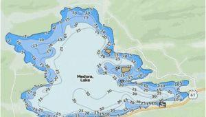 Michigan Lake Depth Maps Medora Lake Fishing Map Us Mi 42 86 Nautical Charts App