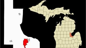 Michigan Map by City Bay City Michigan Wikipedia