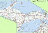 Michigan Map with Cities and Counties Map Of Upper Peninsula Of Michigan