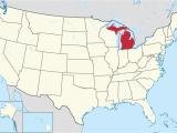 Michigan On Map Of Usa Michigan Wikipedia