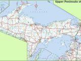 Michigan Road Maps Detailed Map Of Upper Peninsula Of Michigan