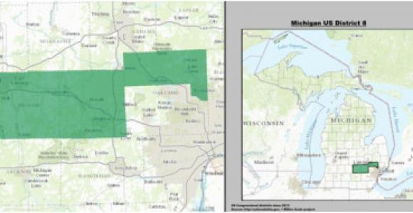 Michigan Senate District Map Michigan S 8th Congressional District Wikipedia