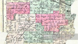 Michigan townships Map Michigan 1873 Battle Creek township Calhoun County Stock